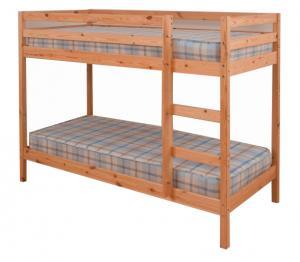 2 kusy, poschodová posteľ, borovicové drevo svetlohnedá, VERSO