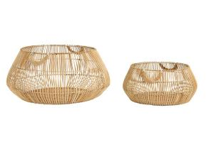 2ks prírodné ratanové koše Patan - Ø 50 * 22 cm / Ø 70 * 32 cm