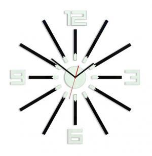 3D nalepovacie hodiny Sheen čierno-biele