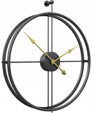3D nástenné hodiny Coat 60 cm čierne
