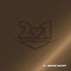 42x23 mm | Schodová hrana dva krát vŕtaná s PVC vložkou FARBA: • bronzový matný + PVC čierne, DĹŽKA: 270 cm