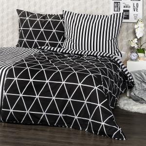 4Home Bavlnené obliečky Galaxy čierna, 140 x 220 cm, 70 x 90 cm