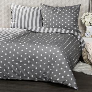 4Home Bavlnené obliečky Stars sivá, 160 x 200 cm, 70 x 80 cm
