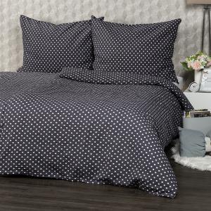 4Home Krepové obliečky Sivá bodka, 140 x 220 cm, 70 x 90 cm
