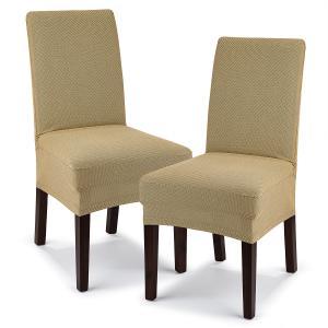 4Home Multielastický poťah na stoličku Comfort béžová, 40 - 50 cm, sada 2 ks