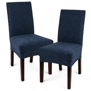 4Home Multielastický poťah na stoličku Comfort Plus modrá, 40 - 50 cm, sada 2 ks