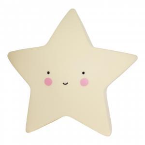 A Little Lovely Company Nočná LED lampička Yellow star