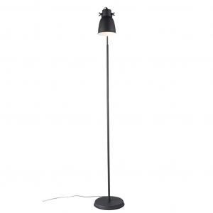 ADRIAN | dizajnové Stojace svietidlo s kovovým tienidlom Farba: Čierna