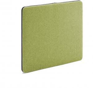 Akustický nástenný panel / nástenka Zip, 800x650 mm, zelená