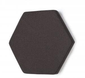 Akustický nástenný panel Poly, hexagon, 700x700x50 mm, tmavošedý