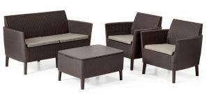Allibert Salema 2 seater sofa - hnedá
