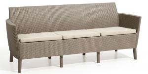 Allibert Salema 3 seater sofa - cappuccino