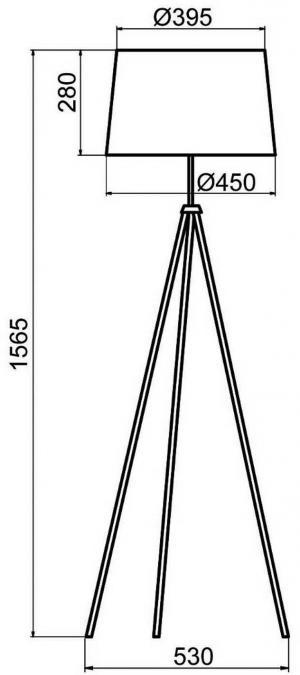 Aluminor Aluminor Tropic stojaca lampa biela, kábel červená
