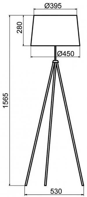Aluminor Aluminor Tropic stojaca lampa chróm, kábel červená