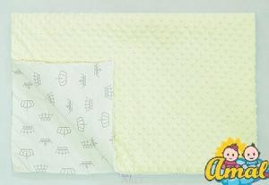 AMAL Deka MINKY krémová,Korunky sivé na bielom, 75x100 cm
