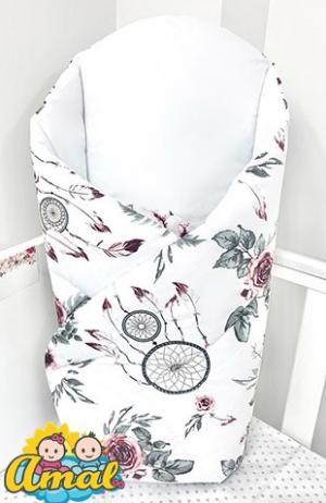 AMAL zavinovačka, kolekcia HAPPY, bordový kvet
