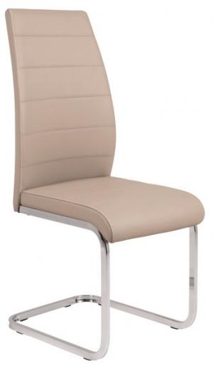 Jedálenská stolička Amber 4, cappuccino ekokoža
