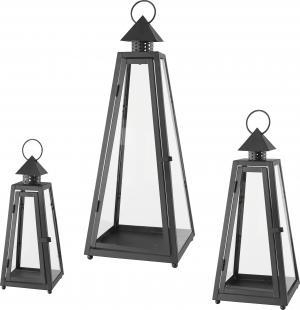 Ambia Home SADA LAMPÁŠOV, kov - čierna