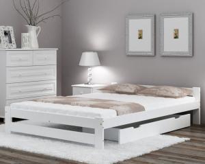 AMI nábytok Posteľ borovica Ran VitBed 120x200cm biela