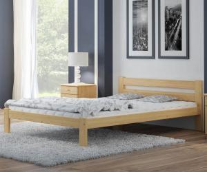 AMI nábytok Postel borovice není lakovaná Akio VitBed 140x200cm
