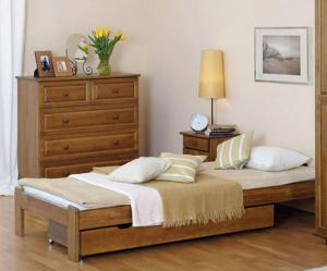AMI nábytok Postel dub Adéla 90x200cm