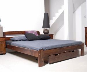 AMI nábytok Postel ořech Marcelína 140x200