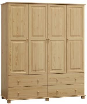 AMI nábytok skříň 4Dč6 šířka 180 borovice