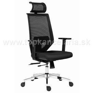 Antares kancelárska stolička EDGE čierna