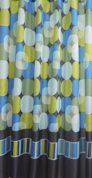 Aqualine 23034 sprchový záves 180x200cm, 100% polyester, kruh - mix farieb