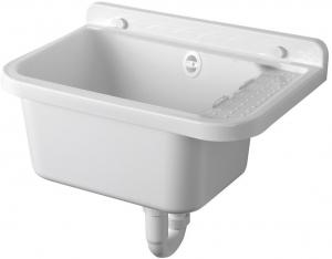 Aqualine PI5050 závesná výlevka s odkladacou plochou 50x34cm, plast, biela