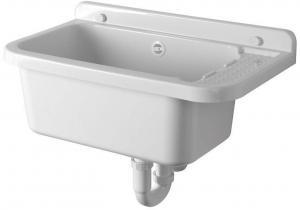 Aqualine PI5060 závesná výlevka s odkladacou plochou 60x34cm, plast, biela