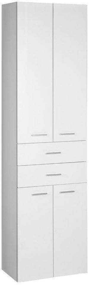 AQUALINE - ZOJA/KERAMIA FRESH skrinka vysoká 50x184x29cm, biela, zásuvky (51291)
