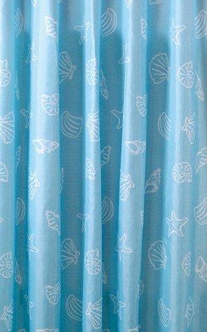 Aqualine ZP006 sprchový záves 180x200cm, polyester, modrý, mušľa