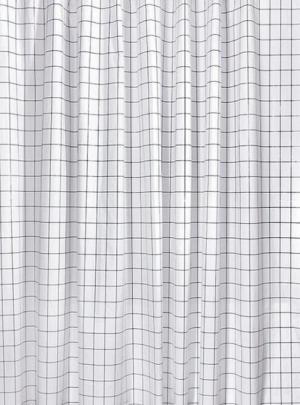 Aqualine ZV022 sprchový záves 180x180cm, vinyl, čierny / biely, štvorcový vzor