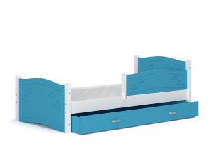 ArtAJ Detská posteľ Daisy 160 x 80 / so zábrankou Farba: biela / sivá, s matracom