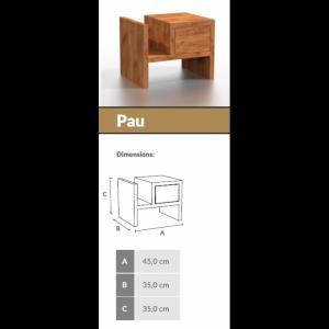 ArtBim nočný stolík PAU orech