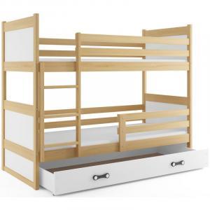ArtBms Detská poschodová posteľ Rico borovica / biela