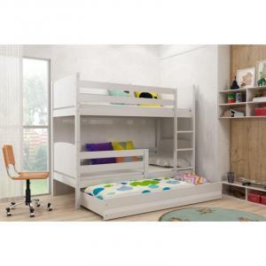 ArtBms Detská poschodová posteľ Tami 3 biela / biela