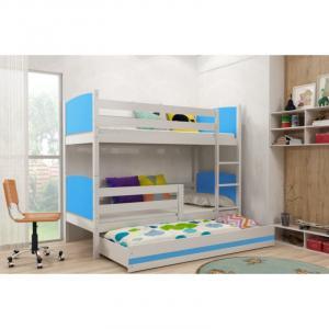 ArtBms Detská poschodová posteľ Tami 3 biela / modrá