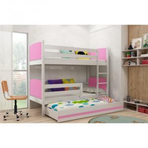 ArtBms Detská poschodová posteľ Tami 3 biela / ružová