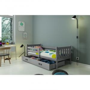 ArtBms Detská posteľ Carino 1 grafit / sivá