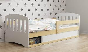 ArtBms Detská posteľ Classic 1 biela / borovica