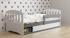 ArtBms Detská posteľ Classic 1 biela / grafit
