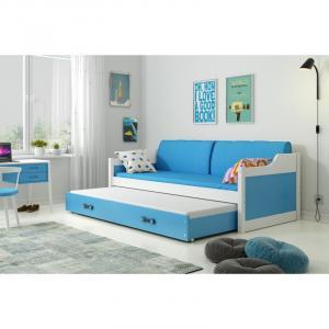 ArtBms Detská posteľ Dawid biela / modrá