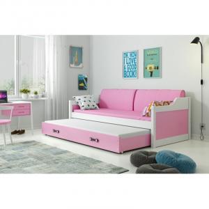 ArtBms Detská posteľ Dawid biela / ružová