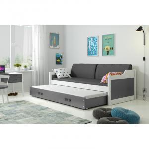 ArtBms Detská posteľ Dawid biela / sivá