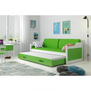 ArtBms Detská posteľ Dawid biela / zelená