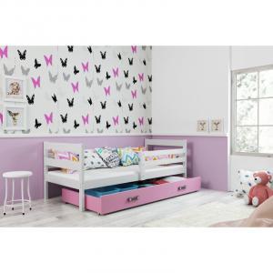 ArtBms Detská posteľ Eryk 1 biela / ružová