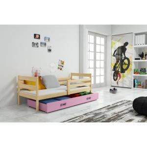 ArtBms Detská posteľ Eryk 1 borovica / ružová