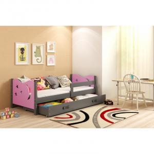 ArtBms Detská posteľ Mikolaj 1 grafit / ružová